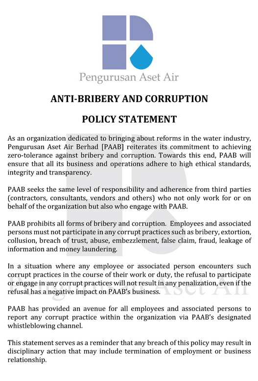 Policy Statement -ABC Policy