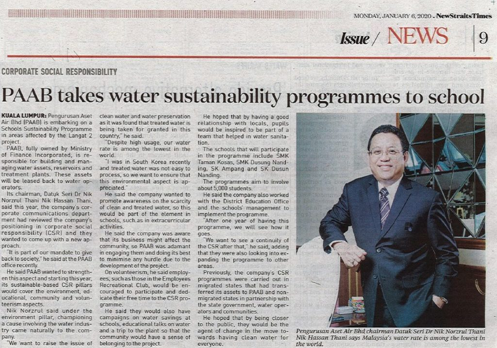 PAAB Takes Water Sustainability Programmes To School